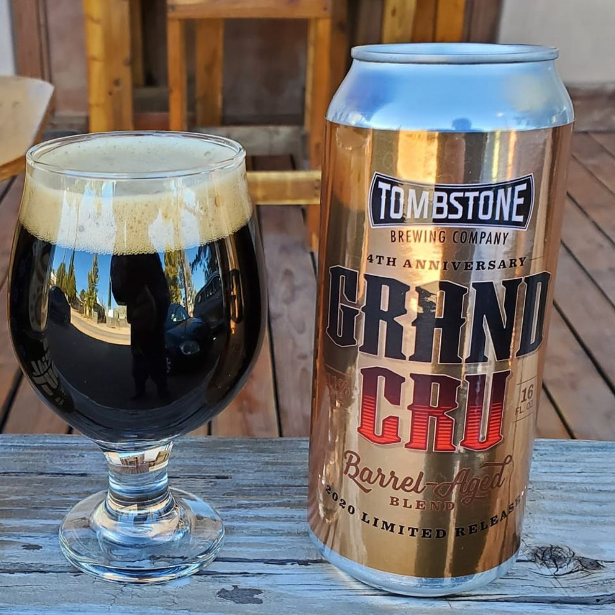 tombstone brewing's 4th anniversary grand cru beer